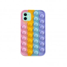 3D Fidget Pop It Toy Rainbow Silicone Case For iPhone 12 Mini