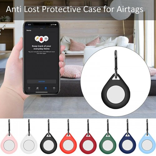 Apple AirTag Silicone Case Red