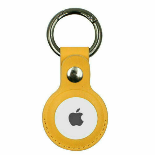 Apple AirTag Leather Case Yellow