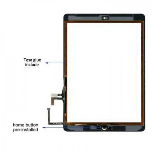 iPad Air 1 A1474 A1475 A1476 Touch Screen Glass Digitizer Replacement Black