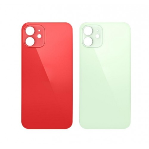 Big Hole Replacement Back Cover For iPhone 12 Red