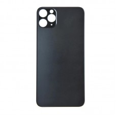 Big Hole-Rear Glass Battery Back Cover Replacement For iPhone 11 Pro Max Grey