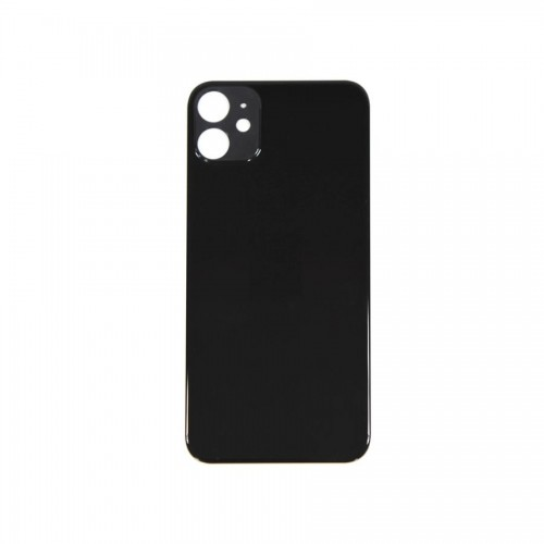 """Big Hole-Rear Glass Battery Back Cover Replacement For iPhone 11 6.1"""" Black"""