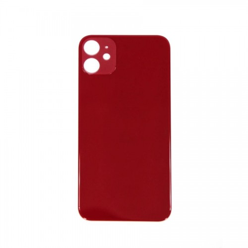"""Big Hole-Rear Glass Battery Back Cover Replacement For iPhone 11 6.1"""" Red"""