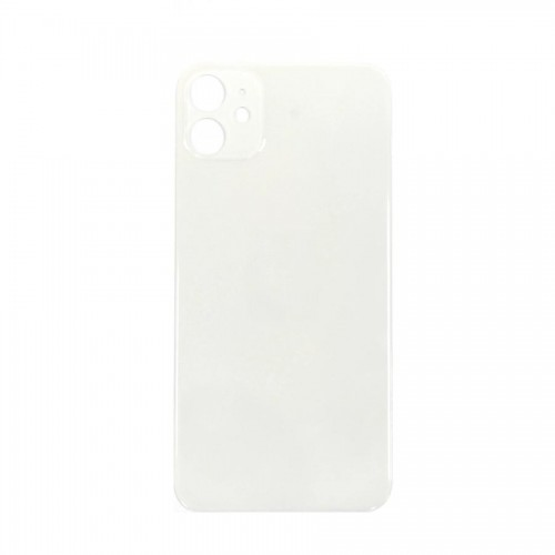 """Big Hole-Rear Glass Battery Back Cover Replacement For iPhone 11 6.1"""" White"""