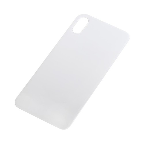 Big Hole-Rear Glass Battery Back Cover Replacement For iPhone XS White
