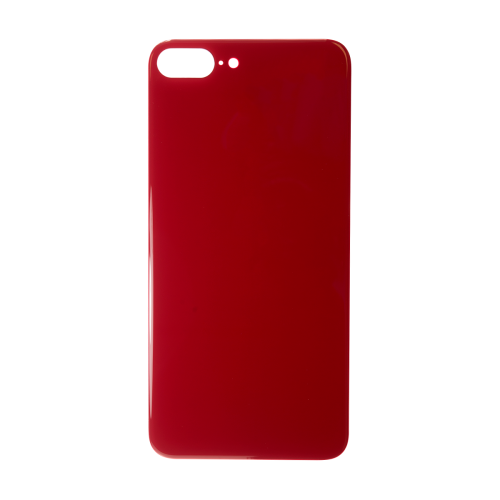 Big Hole-Rear Glass Battery Back Cover Replacement For iPhone 8 Plus Red