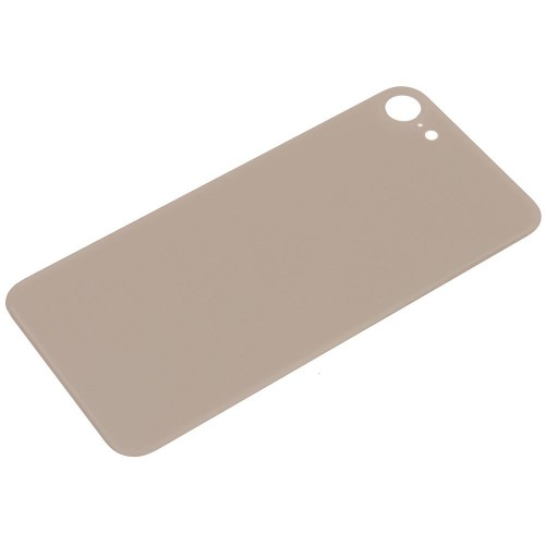 Big Hole-Rear Glass Battery Back Cover Replacement For iPhone 8 Gold