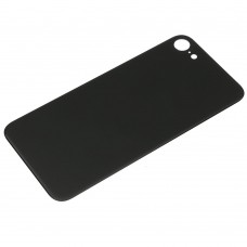 Big Hole-Rear Glass Battery Back Cover Replacement For iPhone 8 Black