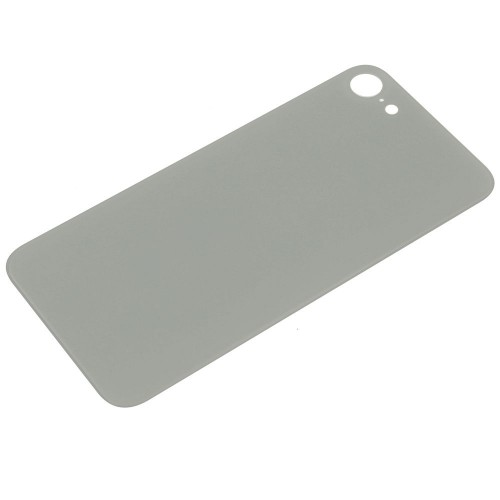 Big Hole-Rear Glass Battery Back Cover Replacement For iPhone 8 White