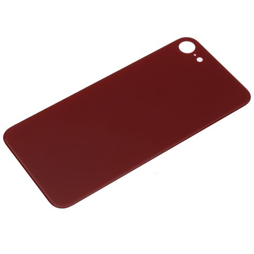 Big Hole-Rear Glass Battery Back Cover Replacement For iPhone 8 Red