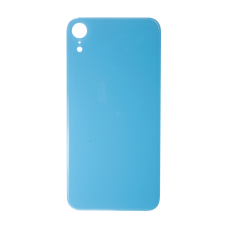 Big Hole-Rear Glass Battery Back Cover Replacement For iPhone XR Blue