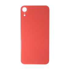 Big Hole-Rear Glass Battery Back Cover Replacement For iPhone XR Coral Red