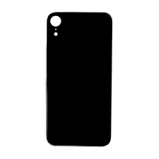 Big Hole-Rear Glass Battery Back Cover Replacement For iPhone XR Black