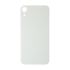 Big Hole-Rear Glass Battery Back Cover Replacement For iPhone XR White