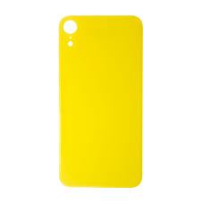 Big Hole-Rear Glass Battery Back Cover Replacement For iPhone XR Yellow