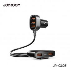 JOYROOM Multi 5 Ports USB Smart Car Charger Black