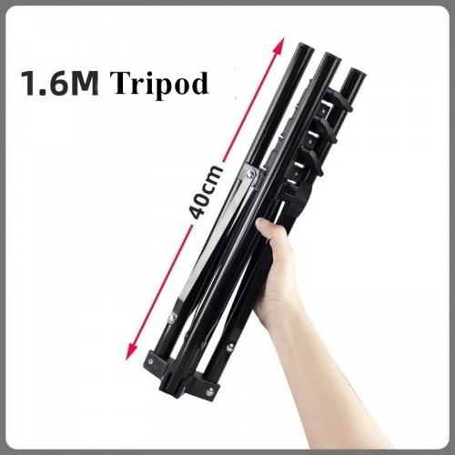 Adjustable 160CM Tripod for Live Lamp Black