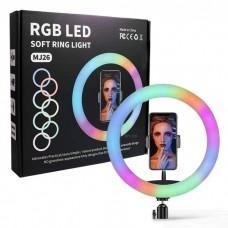 MJ-26 10 inch Ring Fill Light RGB With Desk Tripod