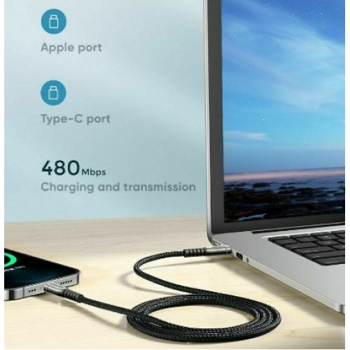 JOYROOM Type-C To USB-C Fast Charging Cable 1.8M Black
