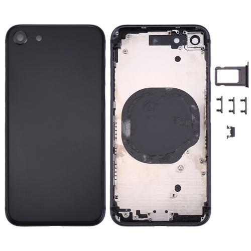 For Apple iPhone 8 Metal Frame Back Chassis Housing Rear Glass Cover Replacement Black