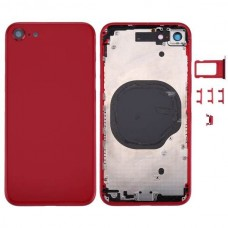 For Apple iPhone 8 Metal Frame Back Chassis Housing Rear Glass Cover Replacement Red