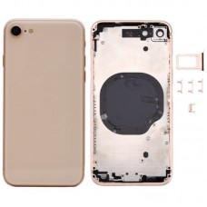 For Apple iPhone 8 Metal Frame Back Chassis Housing Rear Glass Cover Replacement Gold
