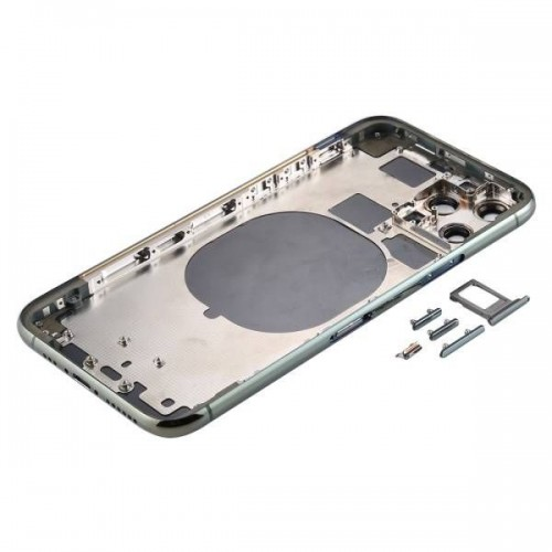 For iPhone 11 Pro Metal Frame Back Chassis Housing Rear Glass Cover Replacement Midnight Green