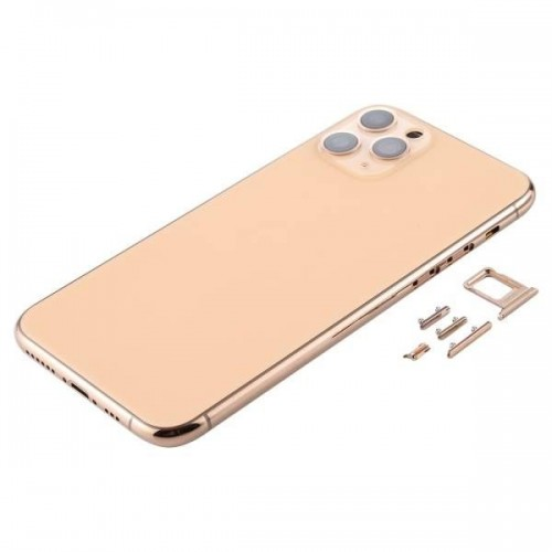 For iPhone 11 Pro Metal Frame Back Chassis Housing Rear Glass Cover Replacement Gold
