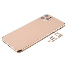 For iPhone 11 Pro Max Metal Frame Back Chassis Housing Rear Glass Cover Replacement Gold
