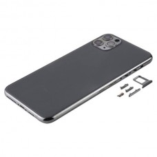 For iPhone 11 Pro Max Metal Frame Back Chassis Housing Rear Glass Cover Replacement Space Grey