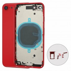 For Apple iPhone SE 2020 Metal Frame Back Chassis Housing Rear Glass Cover Replacement Red