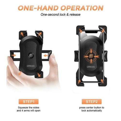 Mobile Phone Holder Bike Handlebar Support Mount Bracket Black