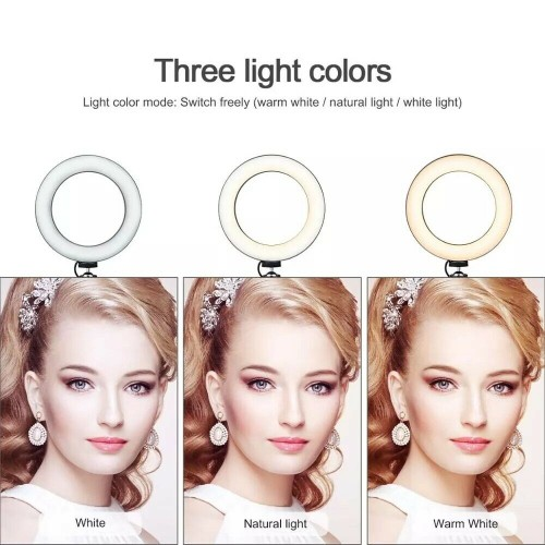 10 inch LED Ring Light 3 Colour Dimmable Lighting Kit