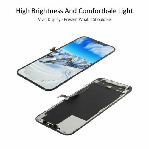 For iPhone 12 Pro Max OLED Display LCD Touch Screen Digitizer Black