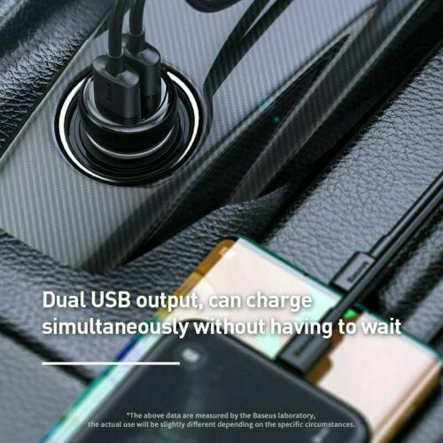 Baseus Bluetooth 5.0 FM Transmitter USB Charger Car Kit Radio Adapter