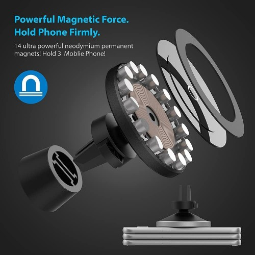 15W Magnetic Wireless Fast Charging Car Charger
