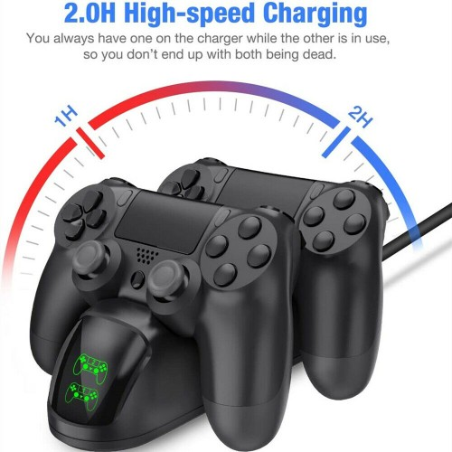 For PS4 Dual LED Controller Fast Charger Dock Station