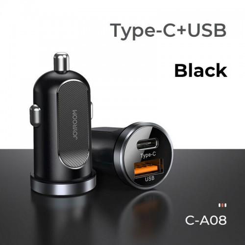 Joyroom 30W Fast Car Charger Type-C USB Cigarette Lighter Socket Dual Adapter Black