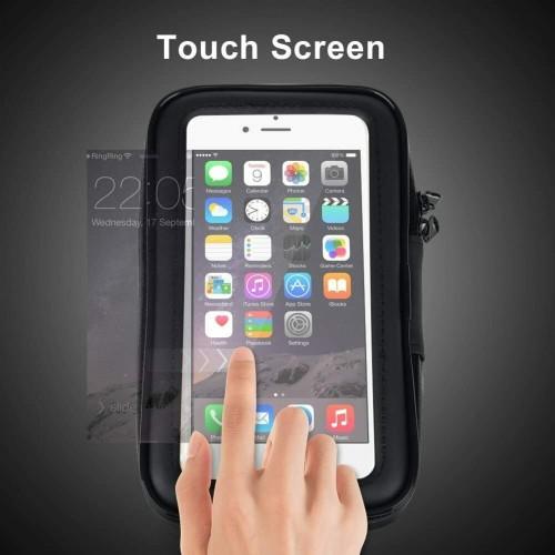 Bicycle Motor Bike Waterproof Phone Case Mount Holder 6.2 inch