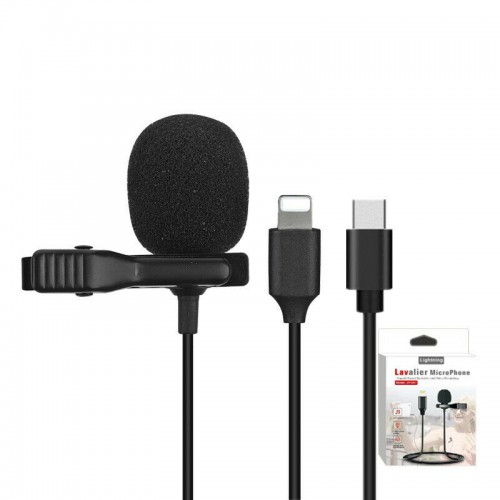 Lavalier Microphone Stereo Mic For Live Stream