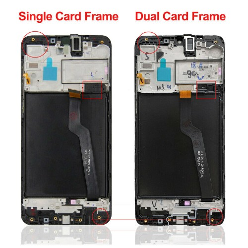 For Samsung Galaxy A10 A105 LCD Display Touch Screen Digitizer Replacement with Frame Black