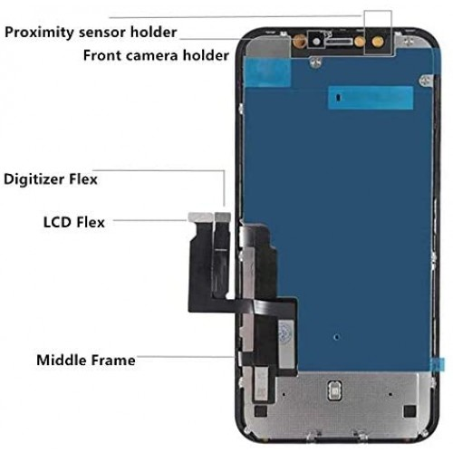 JK iPhone 11 Replacement Incell LCD Display Touch Screen Digitizer Black
