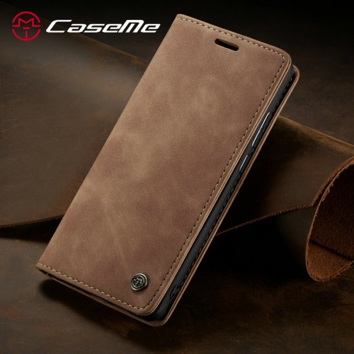 Caseme-013 Magnetic Card Case For iPhone 13 Mini - Brown