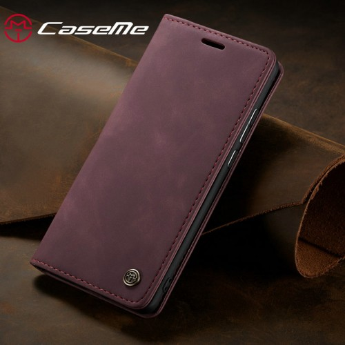 Caseme-013 Magnetic Card Case For iPhone 13 Pro - Red