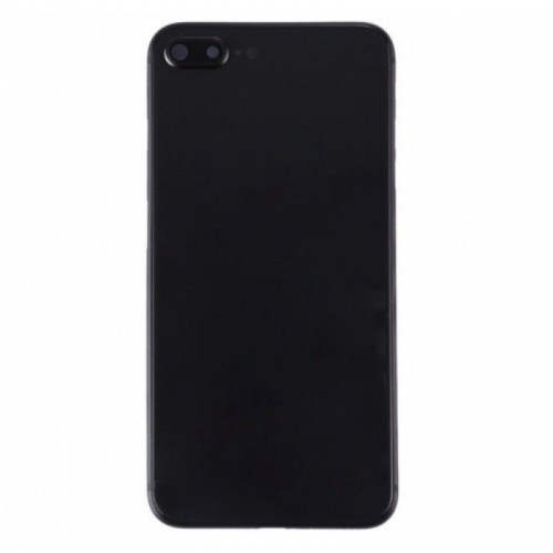 For iPhone 8 Plus Metal Frame Back Chassis Housing Rear Glass Cover Replacement Black