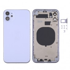 For iPhone 11 Metal Frame Back Chassis Housing Rear Glass Cover Replacement Purple