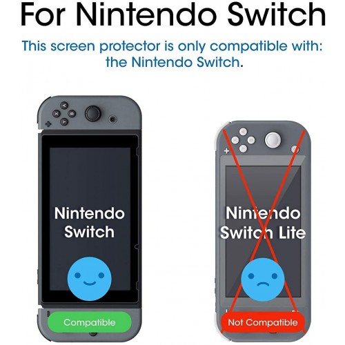 9H Premium Tempered Glass Protective Screen Protector for Nintendo Switch