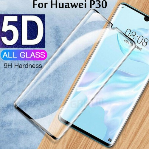 Tempered Glass for Huawei P30 Black