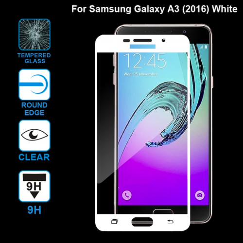 Tempered Glass for Samsung A3 (2016) White